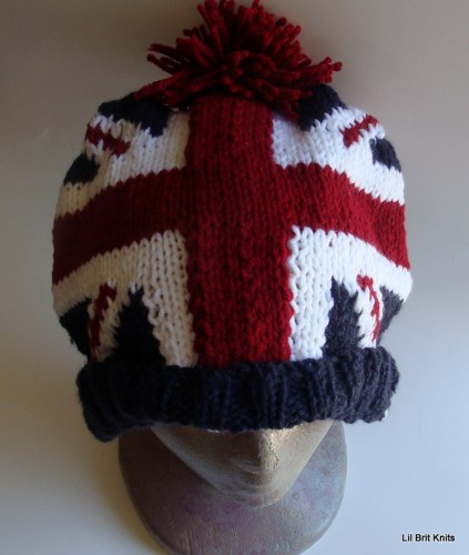 Union Jack knit hat